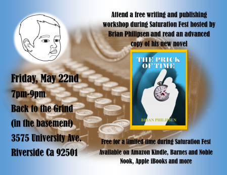 Writing Workshop Friday, May 22nd 7-9pm Back to the Grind (in the basement) 3575 University Ave. Riverside CA 92501